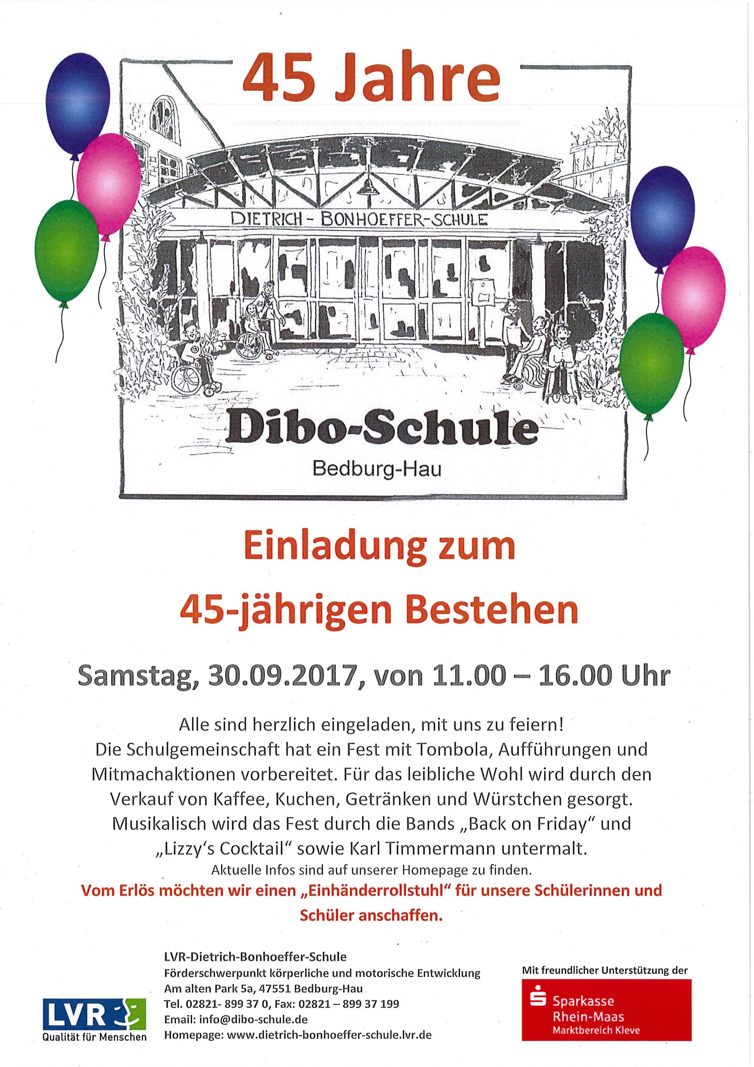 45 Jahre Dibo-Schule - LVR-Dietrich-Bonhoeffer-Schule